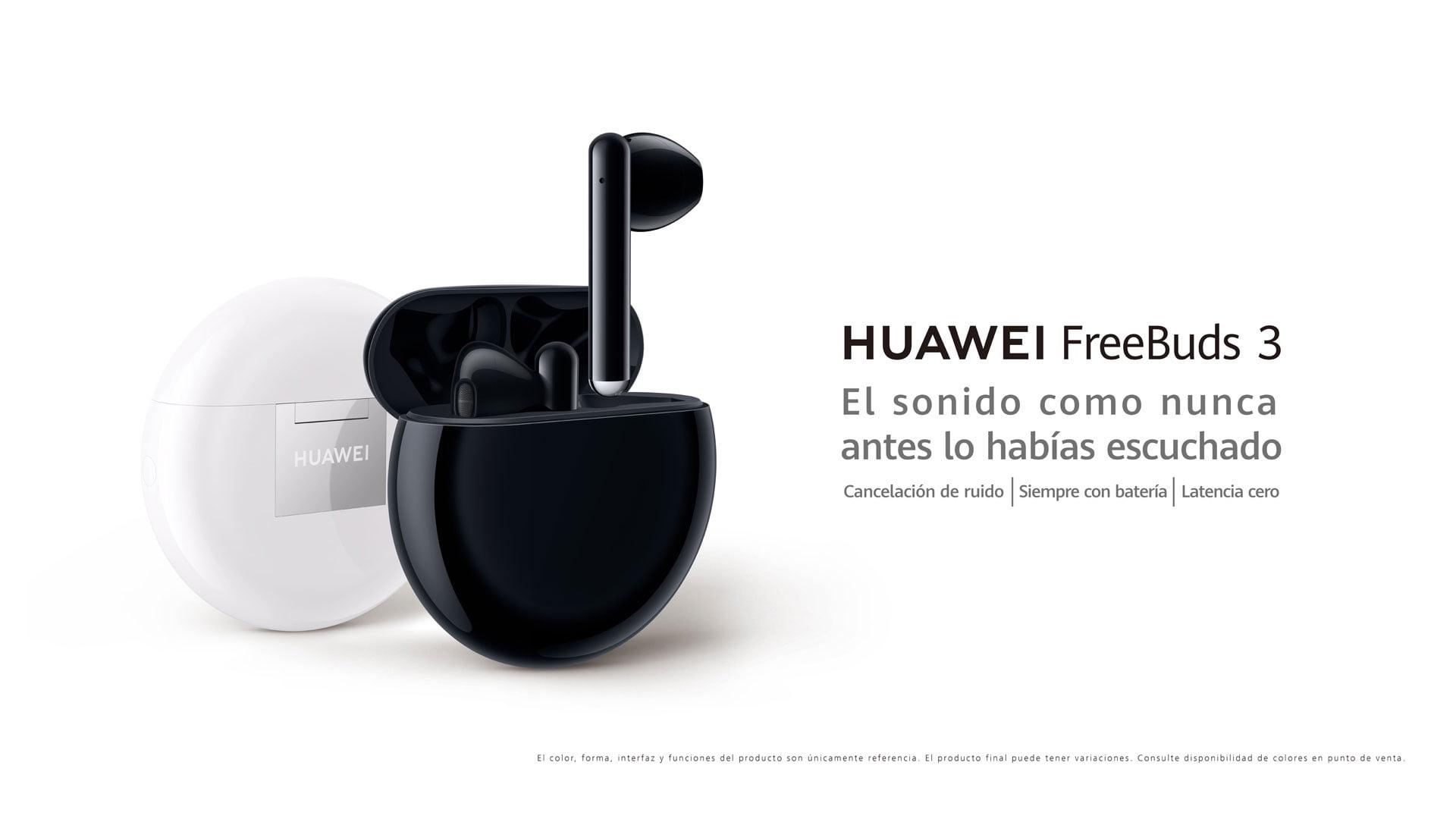 Imagen promocional de los Huawei FreeBuds 3