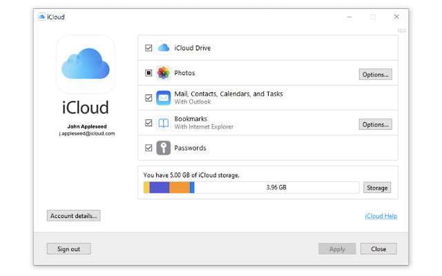 Sincronización de contraseñas en iCloud para Windows 10