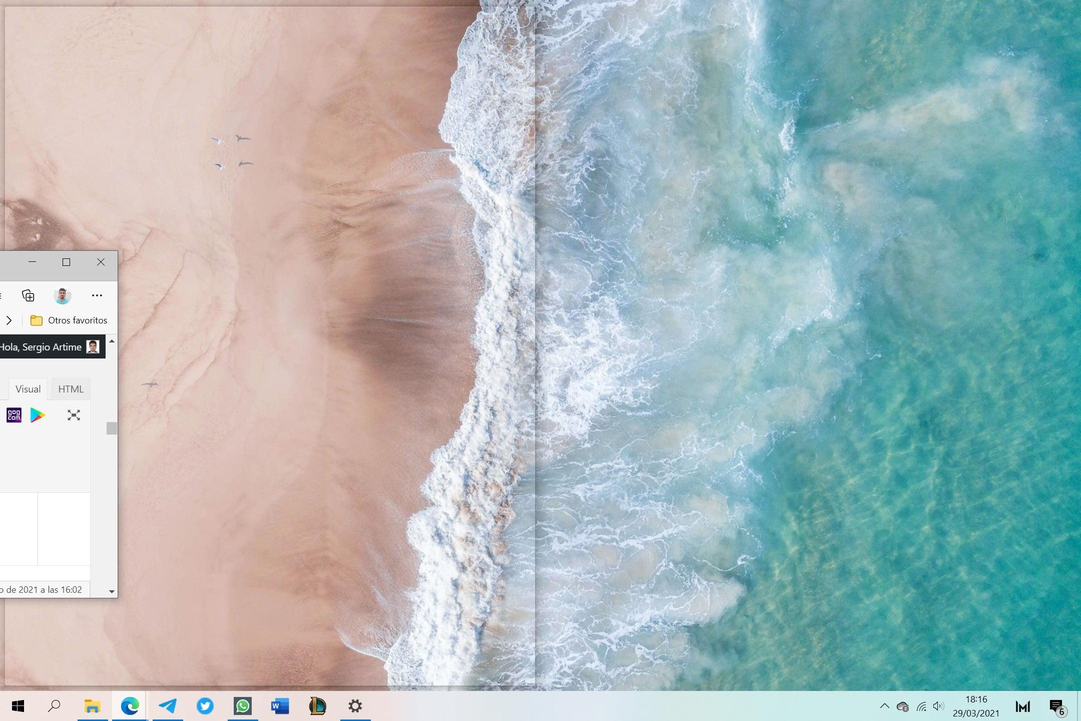 Moviendo animación a pantalla dividida en Windows