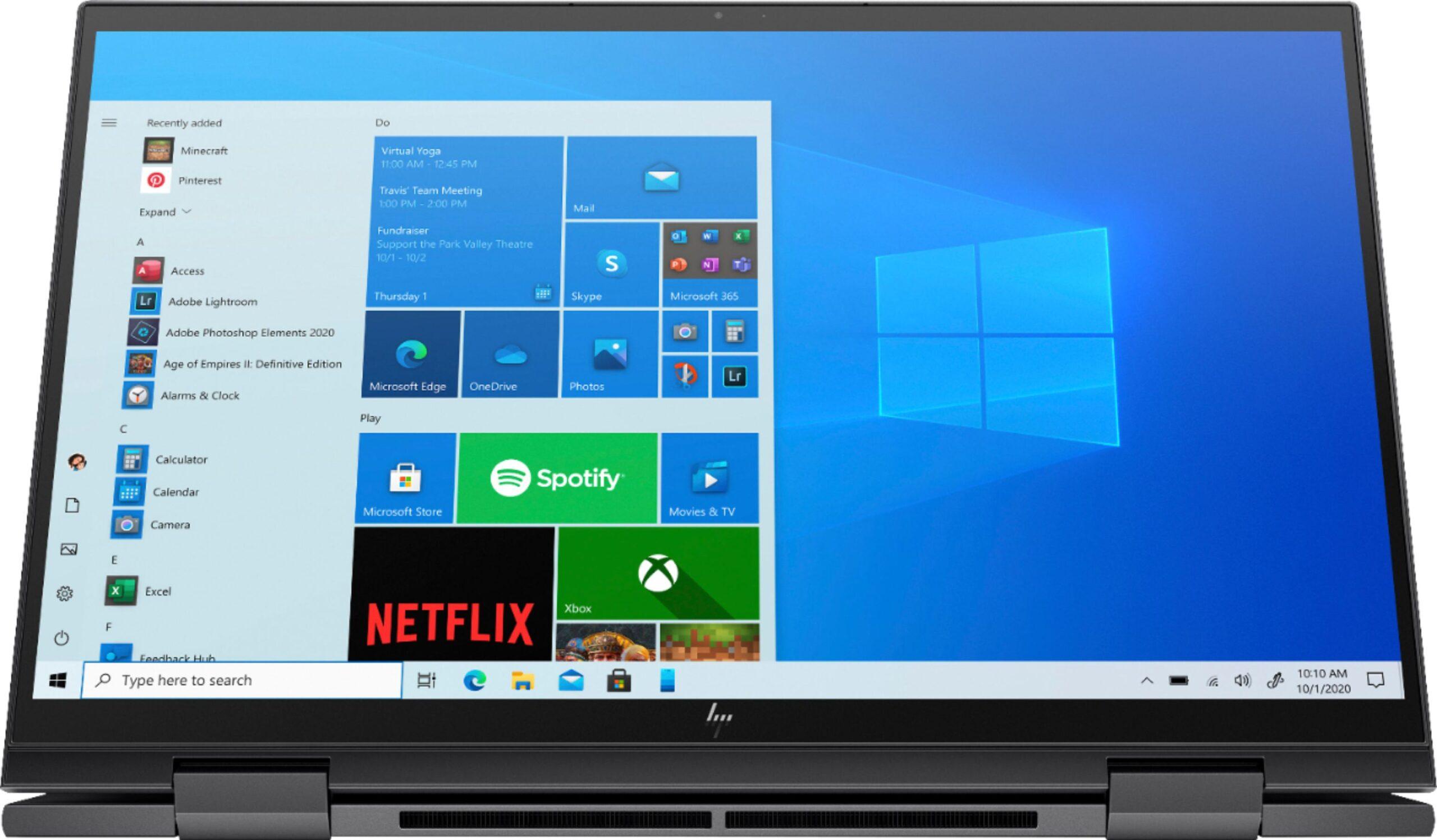 El nuevo HP Envy X360 en modo tablet