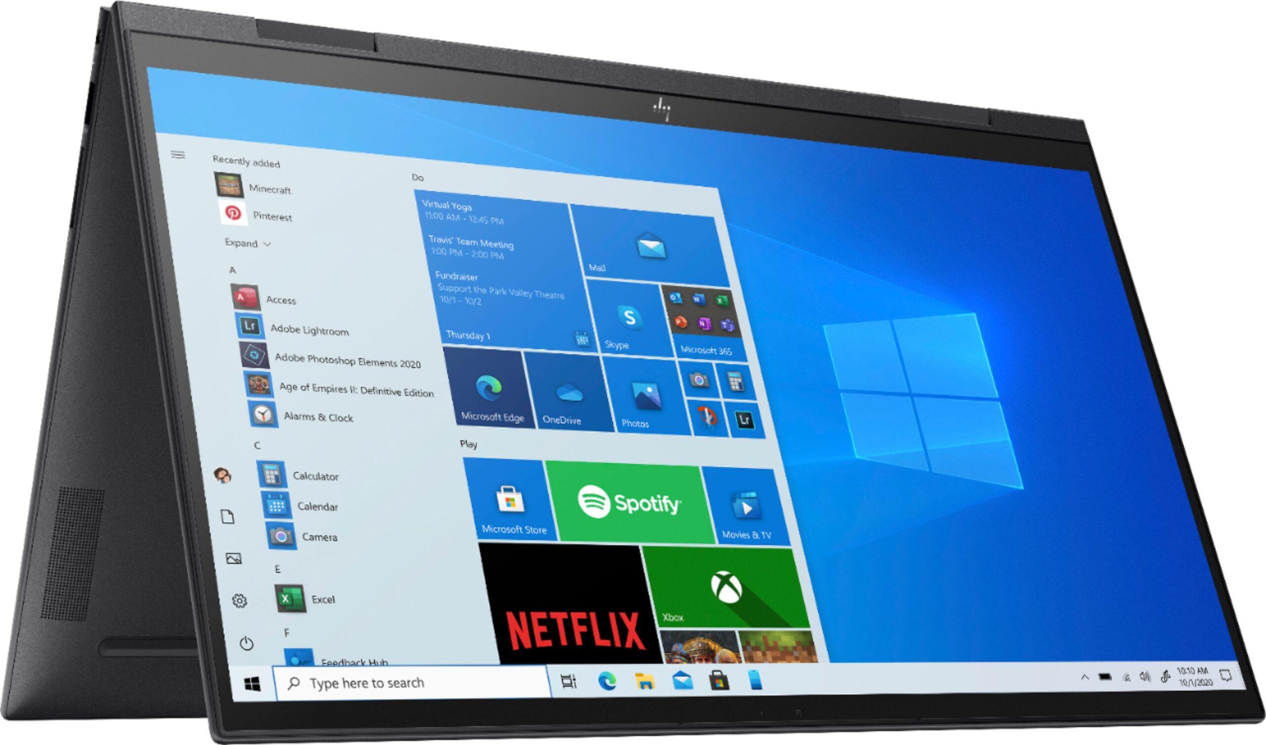 El nuevo HP Envy X360 en modo tienda