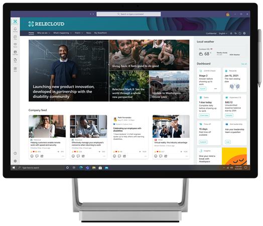 Microsoft Viva Connections en escritorio