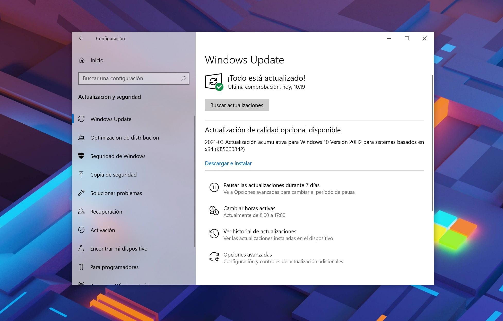 Actualización KB500842 de Windows 10