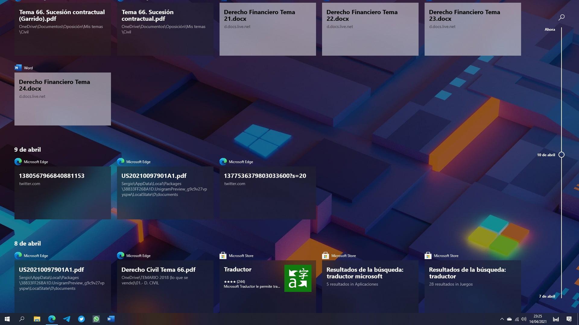Windows 10 Sun Valley será el fin de Timeline tal y como lo conocemos