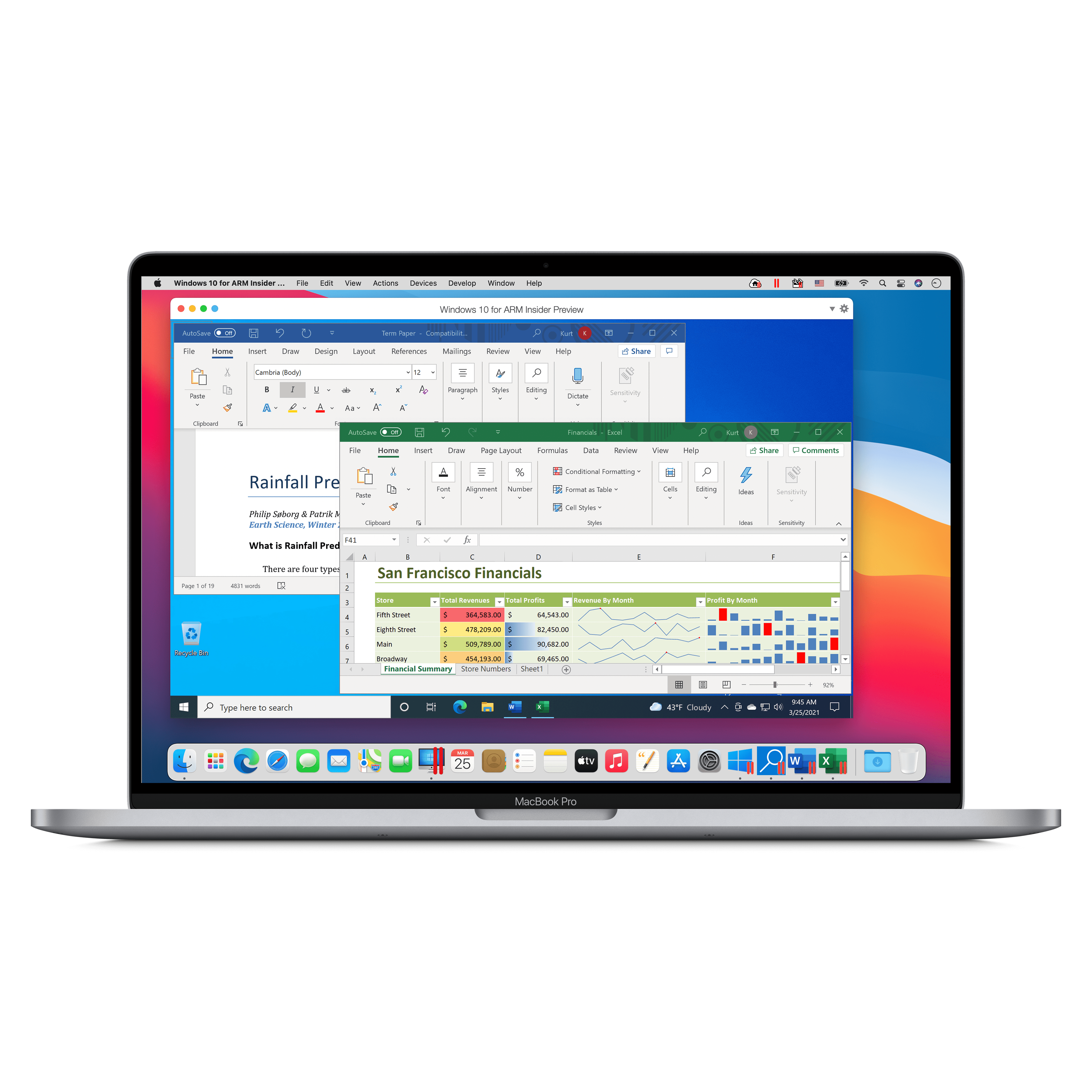 Word y Excel en un Mac M1