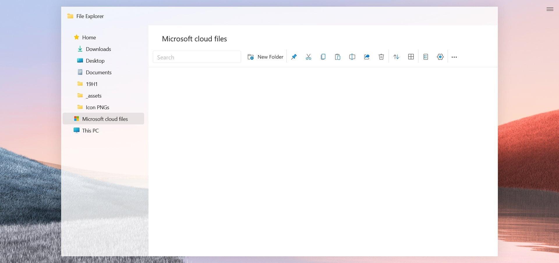 Así podría ser el Explorador de Archivos de Windows 10 Sun Valley