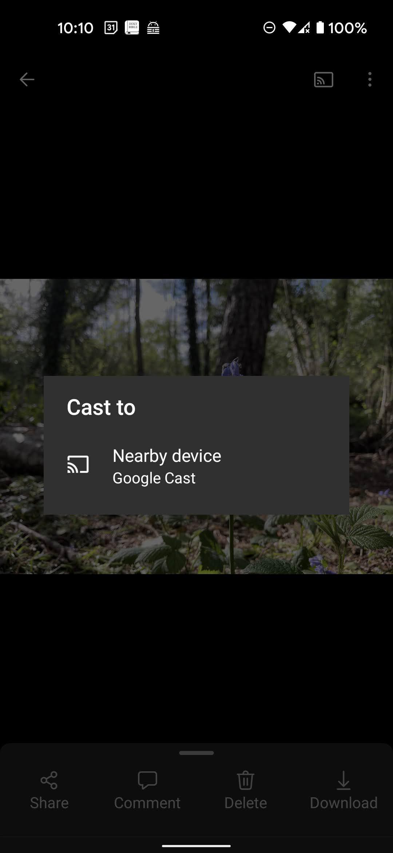 Chromecast en OneDrive para Android 2