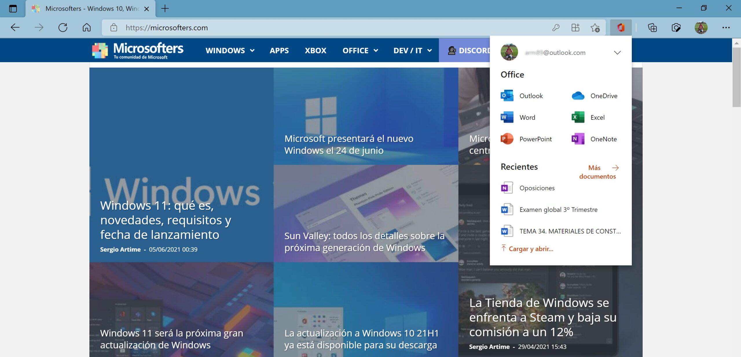 Extensión Microsoft 365