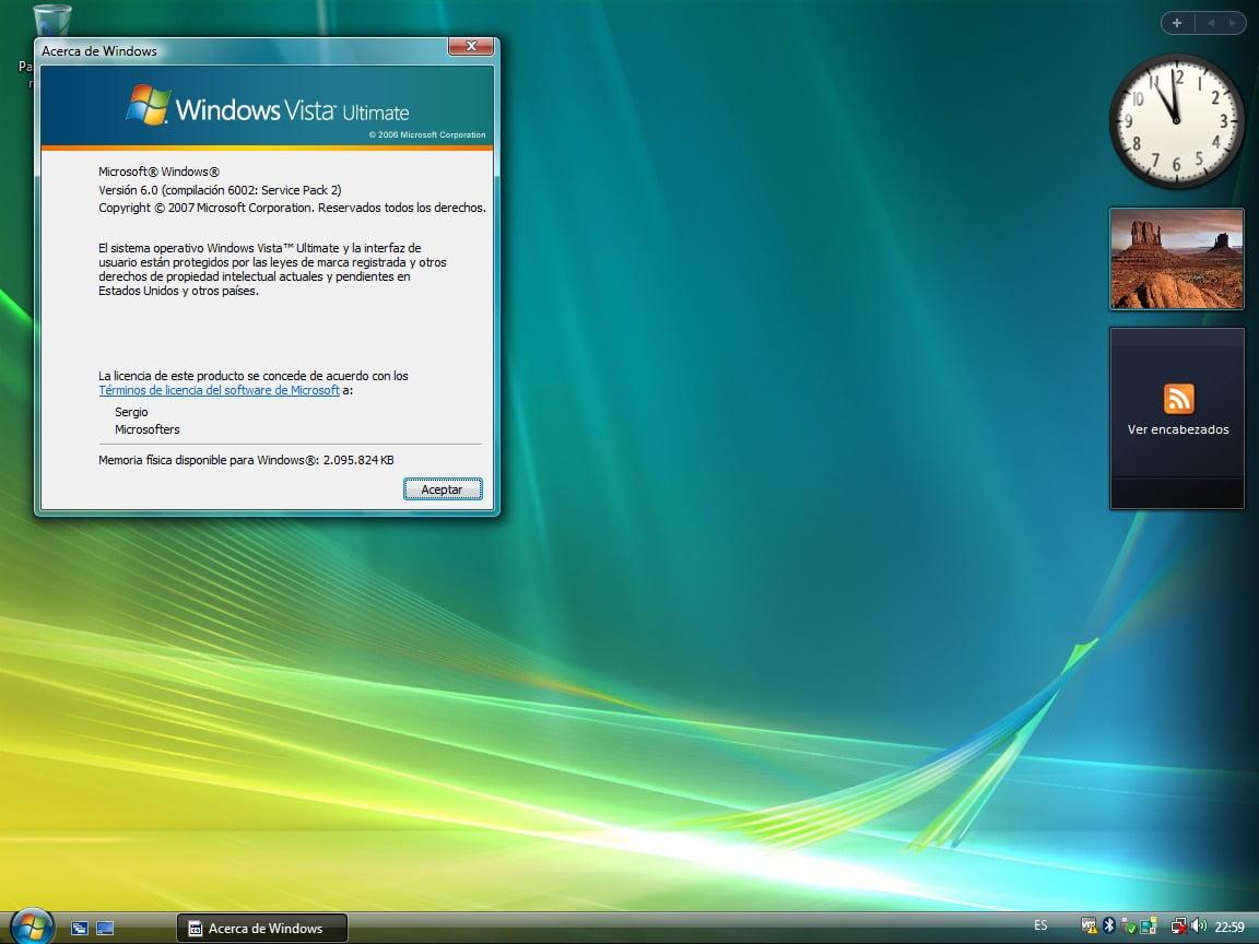 Versión final de Longhorn, conocido como Windows Vista.