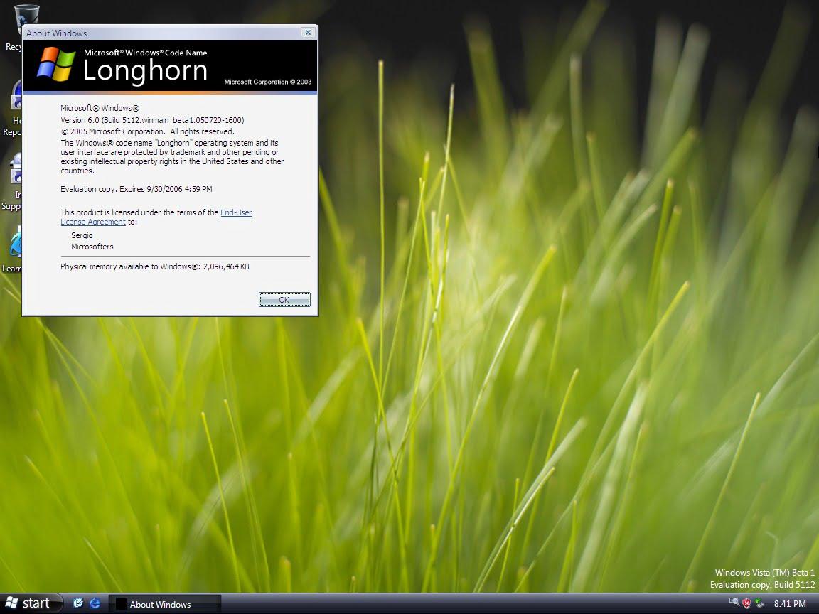 Longhorn Beta 1, build 5112.