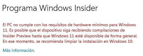 requisitos hard floor de Windows 11