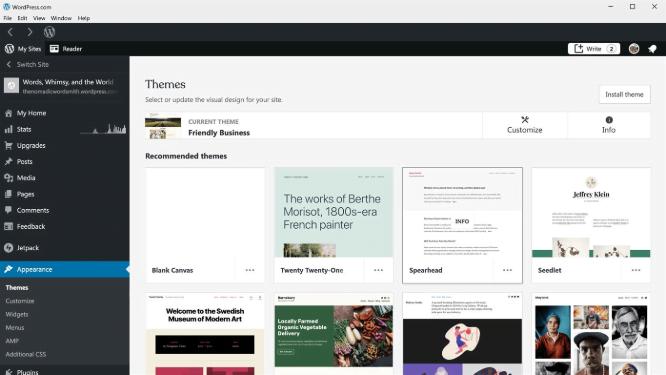 La app de WordPress en la Microsoft Store