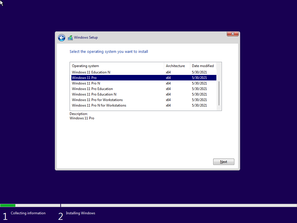 Instalador de Windows 11