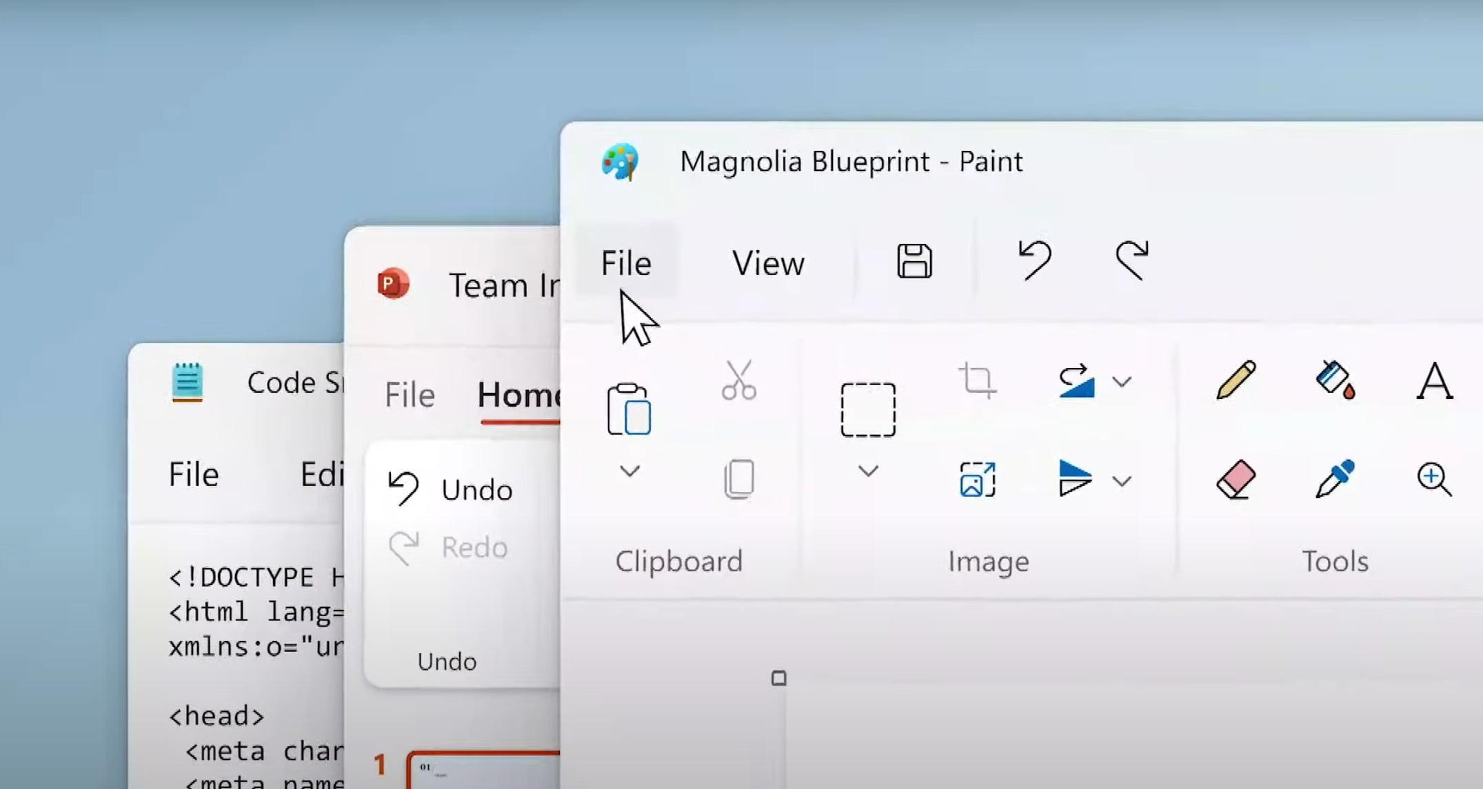 Paint y Bloc de Notas en Windows 11