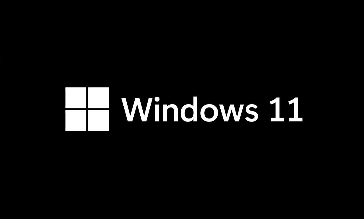 Logotipo de Windows 11 en negro
