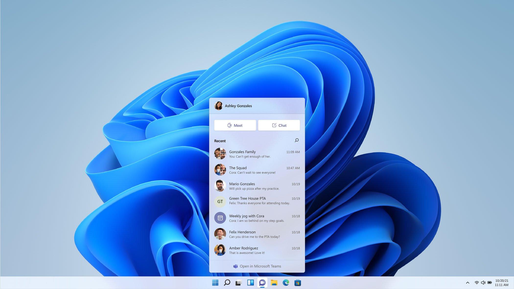 """Aplicación de Chat """"by Teams"""" en Windows 11"""