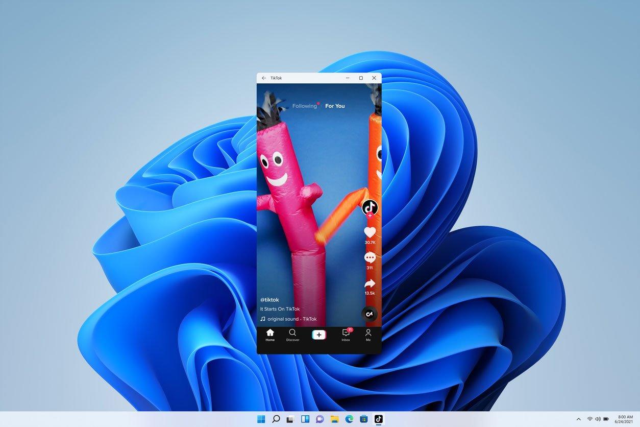 Aplicación de TikTok en Windows 11