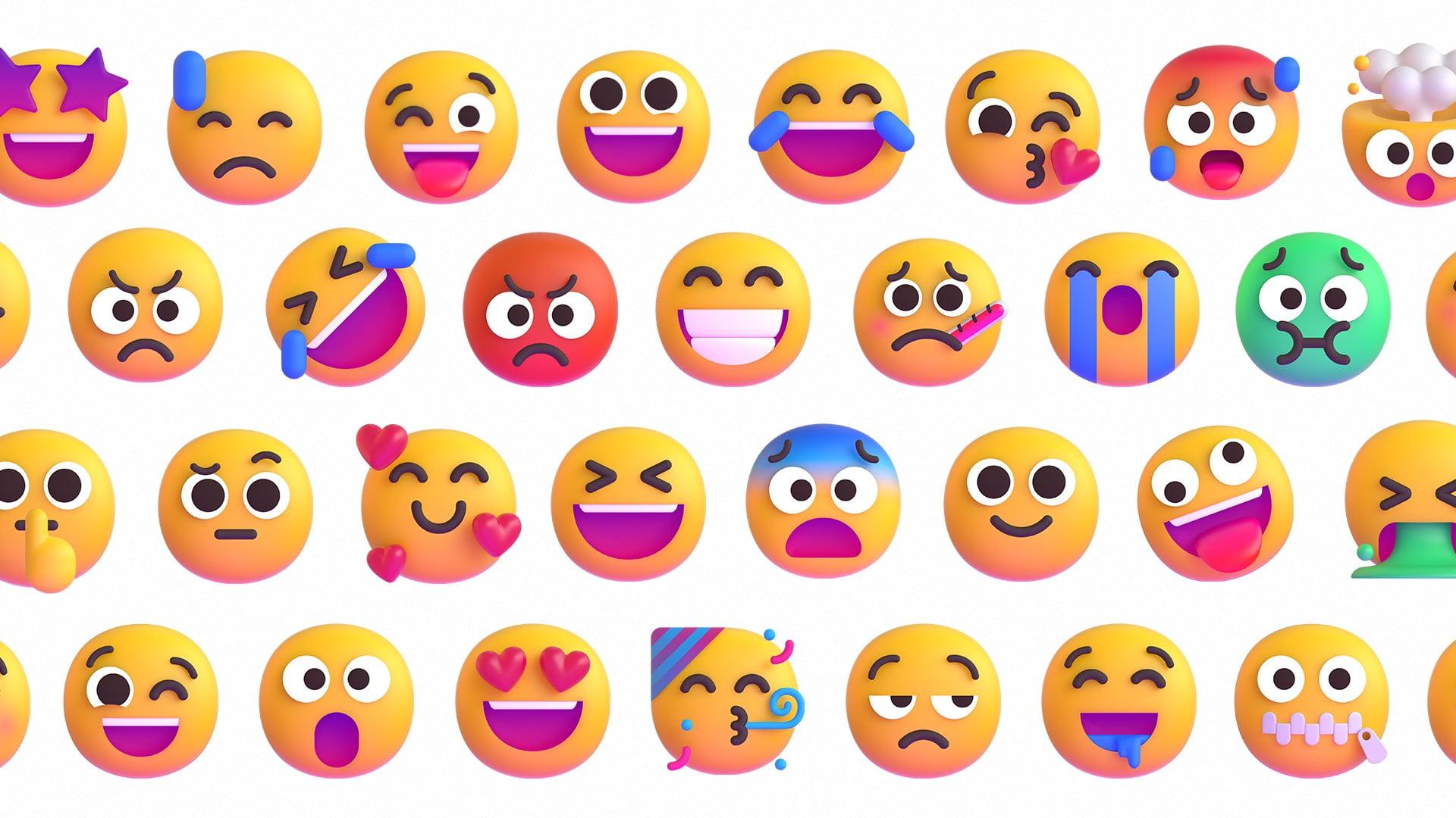 Los nuevos emojis de Microsoft