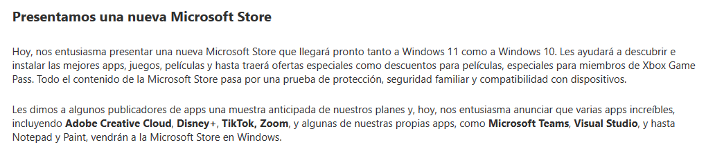 Microsoft habla sobre la Microsoft Store