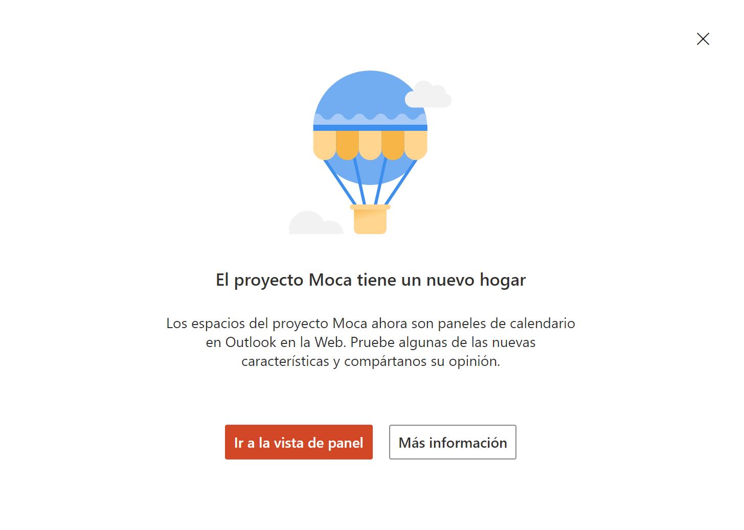 Project Moca se pasa al calendario de Outlook