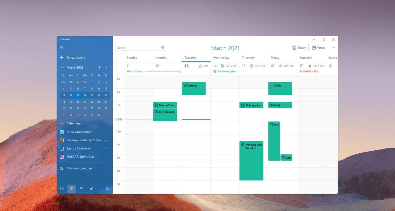 La nueva app de Calendario en Windows 11