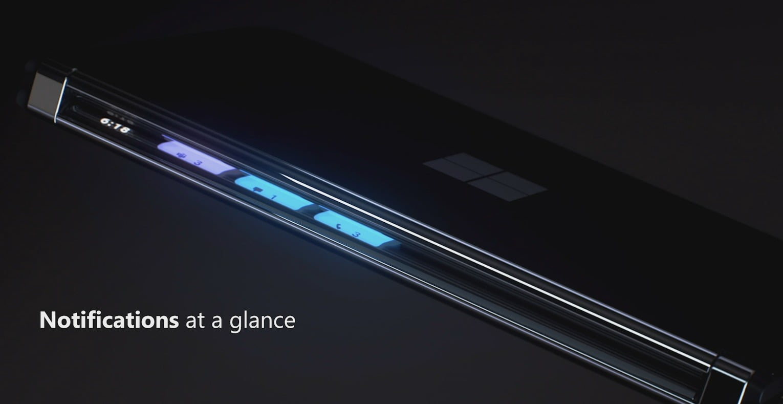 La nueva Glance Bar en Surface Duo 2