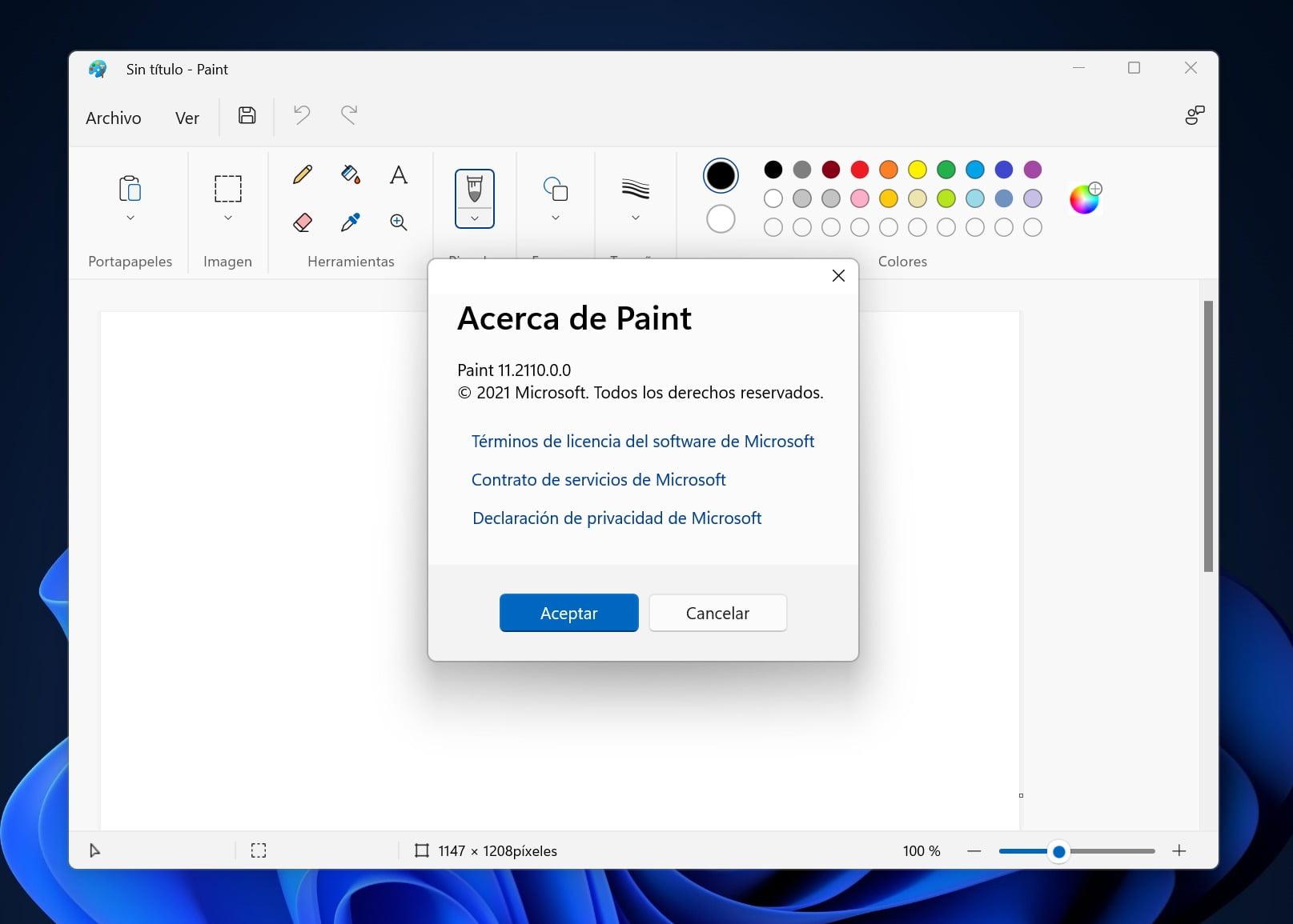 Microsoft Paint en Windows 11