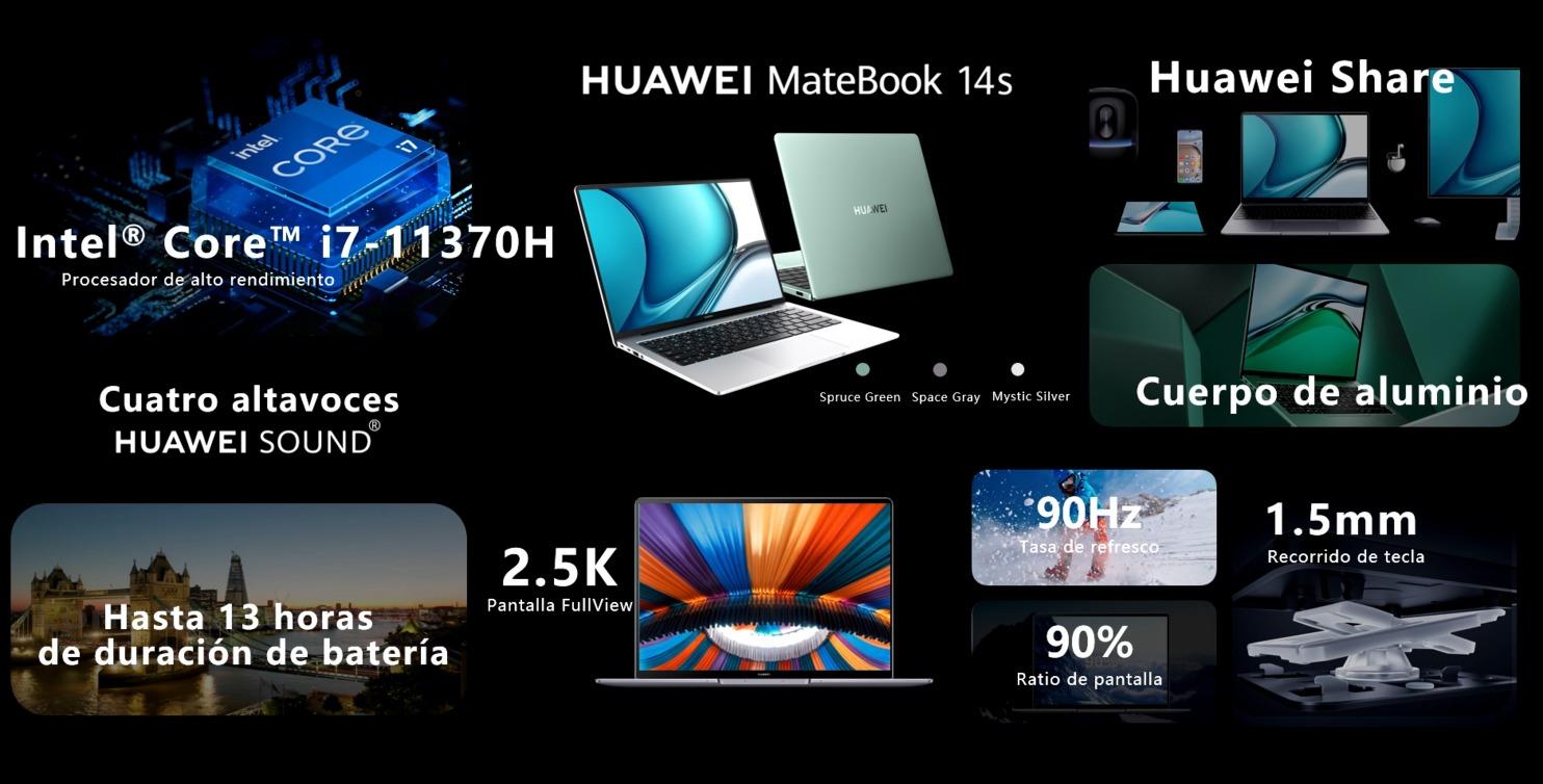 El Huawei Matebook 14s al completo