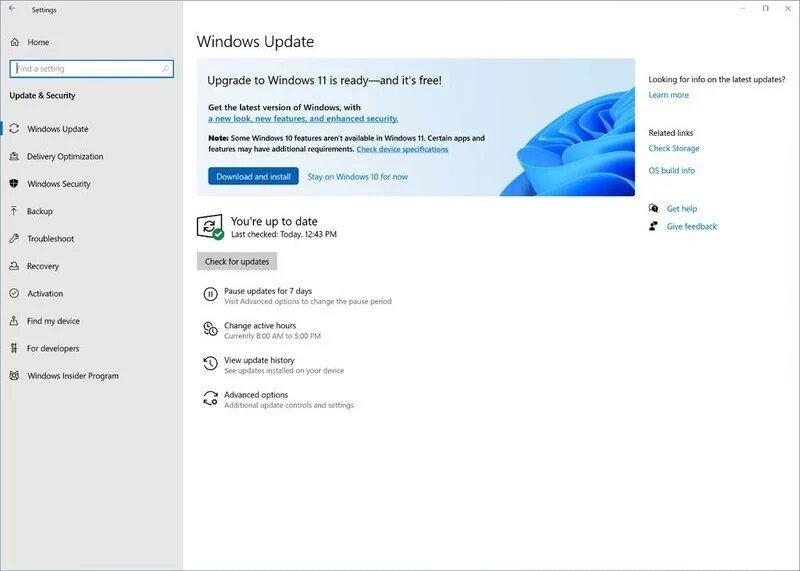 Banner de actualización a Windows 11